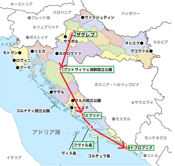 croatia tour route map.png